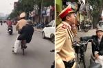 Chiến sỹ đạp xe đèo cụ ông bị lẫn về nhà: Lãnh đạo CSGT Hà Nội nói gì?