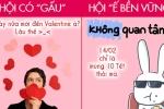 Ảnh: Sự khác biệt giữa hội độc thân và hội có 'gấu' trong ngày Valentine