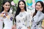 Hoàng Thùy cùng dàn thí sinh 'Hoa hậu Hoàn vũ' đọ sắc trong tà áo dài