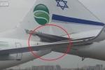 Clip: 2 máy bay chở khách đâm nhau nát đuôi trên đường băng