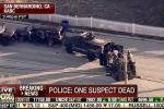 Xả súng kinh hoàng ở Mỹ: Xe bọc thép bao vây xe SUV đầy vết đạn