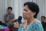 Clip: Dân Thủ Thiêm trào nước mắt tại buổi gặp đại biểu Quốc hội