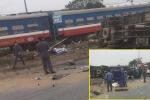 Cố tình băng qua đường ray, tài xế xe tải bị tàu hỏa tông chết