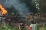 Xe chở dầu phát nổ, dân lao vào 'hôi' xăng: 50 người thiệt mạng, 101 người bị thương