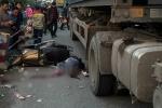 Trên đường đi dạy học về, nữ giáo viên bị xe container cán chết
