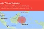 Video: Sóng thần khủng khiếp tấn công Indonesia sau động đất 7,5 độ richter