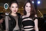 Ngọc Trinh diện đầm dây cắt xẻ đọ sắc với Jolie Phương Trinh