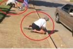 Clip sốc: Cặp vợ chồng 'phê' ma túy quằn quại, lăn lộn giữa phố