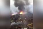 Video: Chiến cơ Trung Quốc rơi, bốc cháy ngùn ngụt khi bay huấn luyện