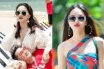 Hoa hậu Hương Giang diện bikini nóng bỏng, tình tứ bên Đàm Vĩnh Hưng