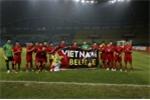 Hình ảnh xúc động sau trận thắng lịch sử của Olympic Việt Nam tại ASIAD 18