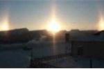 Clip: Hiện tượng 3 Mặt Trời xuất hiện ở Mông Cổ