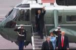 Tổng thống Obama lên trực thăng, ngậm ngùi nói lời tạm biệt Nhà Trắng