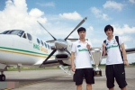Lần hiếm hoi Công Phượng, Tuấn Anh được đi máy bay riêng của bầu Đức
