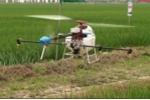 Xem máy bay không người lái phun thuốc sâu lần đầu tiên xuất hiện ở Viêt Nam