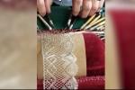 Cận cảnh quy trình làm vải ren tỉ mẩn đến từng chi tiết