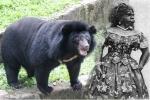 Người đàn bà 'lai' gấu hay đười ươi?