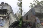 Xe tải mất phanh bị tàu hỏa tông trúng, tài xế thương nặng