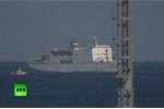 Video: Biểu tình tại cảng Hàn Quốc khi phà chở nghệ sỹ Triều Tiên cập bến