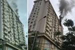 Chung cư Nam Trung Yên ở Hà Nội đang cháy lớn