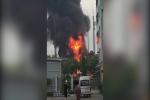 Clip: Nổ trạm điện ở Bắc Ninh, lửa ngùn ngụt cháy
