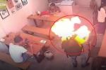 Clip: Châm lửa hút thuốc, bật lửa nổ tung cháy xém mặt