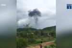 Máy bay rơi ở Nghệ An gây tiếng nổ lớn trước khi vỡ vụn