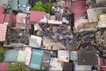 Clip: Toàn cảnh hiện trường vụ cháy lớn ở Đê La Thành nhìn từ flycam