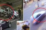 Clip: Bị cảnh sát truy đuổi, BMW lao như tên lửa vào gốc cây, 4 người chết