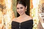 Thùy Dung lần đầu xuất hiện trước công chúng sau khi trở về từ 'Hoa hậu Quốc tế 2017'