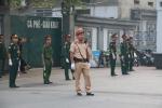 Ảnh: Lực lượng công an, quân đội bảo vệ an toàn cho Quốc tang nguyên Tổng Bí thư Đỗ Mười