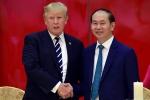 Chủ tịch nước Trần Đại Quang điện đàm với Tổng thống Donald Trump