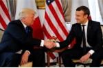 Tổng thống Trump và Macron lần đầu gặp gỡ, trao nhau cái bắt tay 'máu lửa'