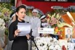 Vo nghe si Thanh Hoang om di anh chong khoc ngat trong tang le