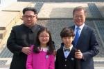 Hai em nhỏ xuất hiện tại biên giới cùng lãnh đạo liên Triều là ai?