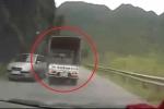 Lạng Sơn: Xe tải thủng lốp phóng như bay, bẻ lái 180° như phim hành động