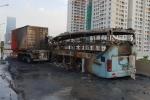 Clip: Hiện trường vụ húc đuôi xe container, xe khách 47 chỗ cháy trơ khung ở Hà Nội