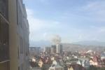 Video, ảnh: Hiện trường vụ đánh bom xe khủng khiếp ở Đại sứ quán Trung Quốc tại Kyrgyzstan