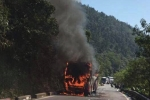Ô tô chở 29 khách nước ngoài bốc cháy trên đèo Hải Vân ngày 30 Tết