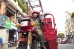 Bảo vệ dân phố vay tiền ngân hàng mua đồ chế xe chữa cháy mini lưu động