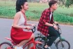 Fan cười ngất khi đôi bạn thân Đông Nhi - Ngô Kiến Huy 'lầy lội' đạp xe con nít