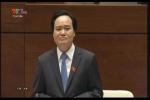 Video: Bộ trưởng GD-ĐT trả lời chất vấn về tổ chức thi trắc nghiệm