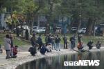 Ảnh: Dân Thủ đô thích thú ngắm đàn thiên nga trên hồ Thiền Quang