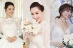 Đọ nhan sắc Nhã Phương, Đặng Thu Thảo, Hari Won khi diện váy cưới trắng tinh khôi