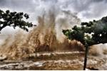 Bão số 4 đổ bộ Thanh Hóa: Biển Sầm Sơn đục ngầu, sóng cao 5-6m