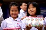 Vinamilk tặng sữa cho 1.600 học sinh huyện Chương Mỹ và Mỹ Đức
