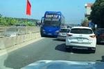 Tài xế xe khách chạy ngược chiều trên Quốc lộ 1A bị phạt 1 triệu đồng, tước giấy phép lái xe