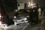 Video, ảnh: Ô tô đâm nhau lật ngang đường, cao tốc Pháp Vân - Cầu Giẽ kẹt cứng