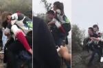 Clip nam thanh niên cõng bạn gái lên Yên Tử gây xôn xao dân mạng