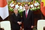 Chủ tịch nước Trần Đại Quang hội kiến Nhà vua và Hoàng hậu Nhật Bản
